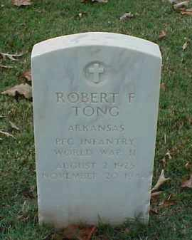 TONG (VETERAN WWII), ROBERT F - Pulaski County, Arkansas | ROBERT F TONG (VETERAN WWII) - Arkansas Gravestone Photos