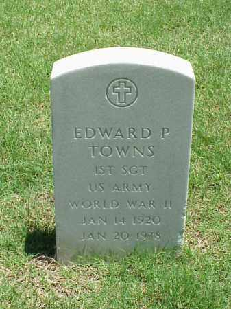 TOWNS (VETERAN WWII), EDWARD P - Pulaski County, Arkansas | EDWARD P TOWNS (VETERAN WWII) - Arkansas Gravestone Photos