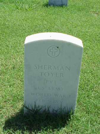 TOYER (VETERAN WWI), SHERMAN - Pulaski County, Arkansas | SHERMAN TOYER (VETERAN WWI) - Arkansas Gravestone Photos