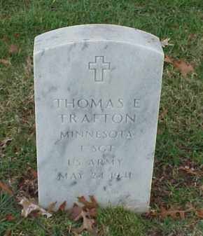 TRAFTON (VETERAN), THOMAS E - Pulaski County, Arkansas | THOMAS E TRAFTON (VETERAN) - Arkansas Gravestone Photos