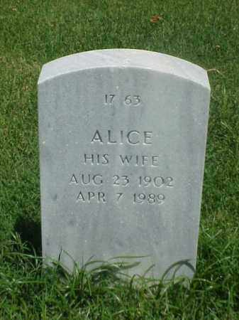 TRAIL, ALICE - Pulaski County, Arkansas | ALICE TRAIL - Arkansas Gravestone Photos