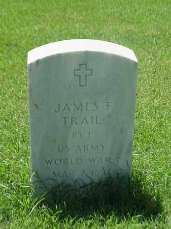 TRAIL (VETERAN WWI), JAMES F - Pulaski County, Arkansas | JAMES F TRAIL (VETERAN WWI) - Arkansas Gravestone Photos