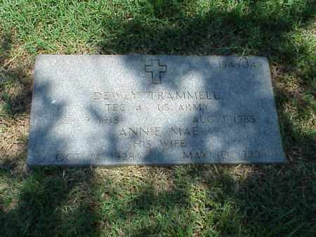 TRAMMELL (VETERAN WWII), DEWEY - Pulaski County, Arkansas | DEWEY TRAMMELL (VETERAN WWII) - Arkansas Gravestone Photos