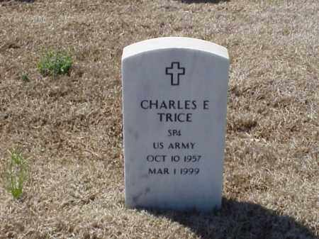 TRICE (VETERAN), CHARLES E - Pulaski County, Arkansas | CHARLES E TRICE (VETERAN) - Arkansas Gravestone Photos