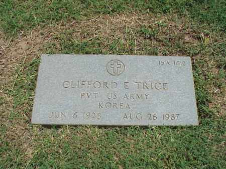 TRICE (VETERAN KOR), CLIFFORD E - Pulaski County, Arkansas | CLIFFORD E TRICE (VETERAN KOR) - Arkansas Gravestone Photos