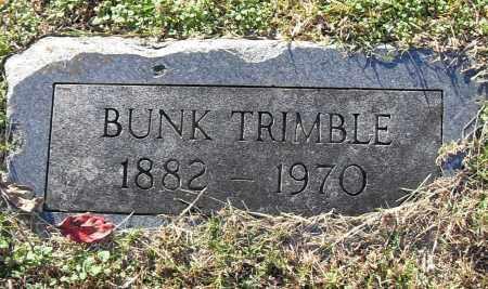 TRIMBLE, BUNK - Pulaski County, Arkansas | BUNK TRIMBLE - Arkansas Gravestone Photos