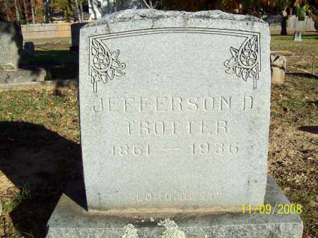 TROTTER, JEFFERSON DAVIS - Pulaski County, Arkansas | JEFFERSON DAVIS TROTTER - Arkansas Gravestone Photos