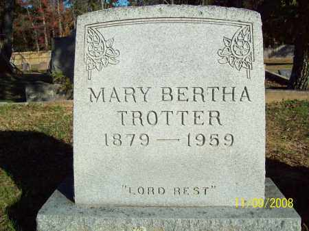 TROTTER, MARY BERTHA - Pulaski County, Arkansas | MARY BERTHA TROTTER - Arkansas Gravestone Photos