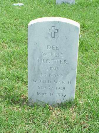 TROTTER (VETERAN WWII)), DEE WILLIE - Pulaski County, Arkansas | DEE WILLIE TROTTER (VETERAN WWII)) - Arkansas Gravestone Photos