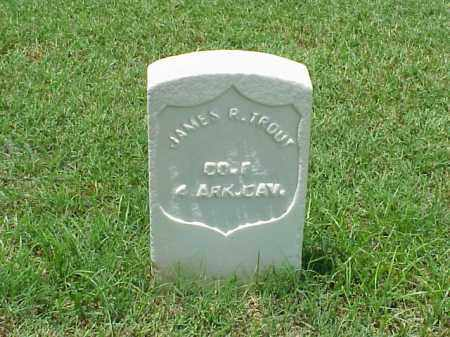 TROUT (VETERAN UNION), JAMES R - Pulaski County, Arkansas | JAMES R TROUT (VETERAN UNION) - Arkansas Gravestone Photos