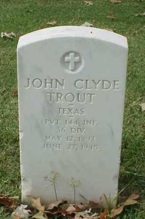 TROUT (VETERAN WWI), JOHN CLYDE - Pulaski County, Arkansas | JOHN CLYDE TROUT (VETERAN WWI) - Arkansas Gravestone Photos
