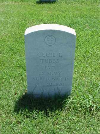 TUBBS (VETERAN WWII), CECIL L - Pulaski County, Arkansas | CECIL L TUBBS (VETERAN WWII) - Arkansas Gravestone Photos