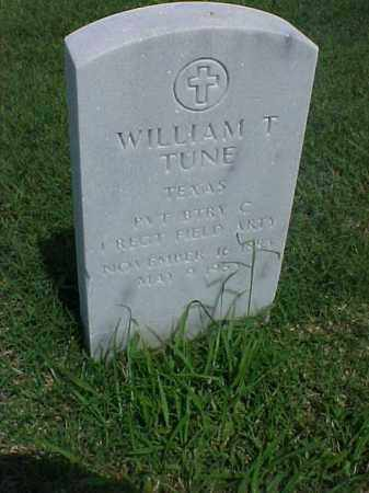 TUNE (VETERAN), WILLIAM T - Pulaski County, Arkansas | WILLIAM T TUNE (VETERAN) - Arkansas Gravestone Photos