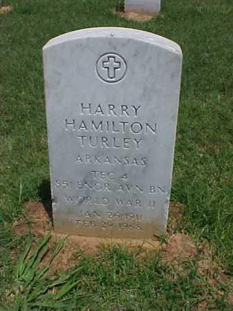 TURLEY (VETERAN WWII), HARRY HAMILTON - Pulaski County, Arkansas | HARRY HAMILTON TURLEY (VETERAN WWII) - Arkansas Gravestone Photos