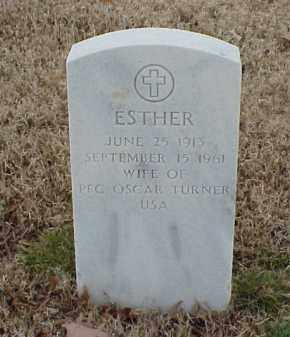 TURNER, ESTHER - Pulaski County, Arkansas | ESTHER TURNER - Arkansas Gravestone Photos