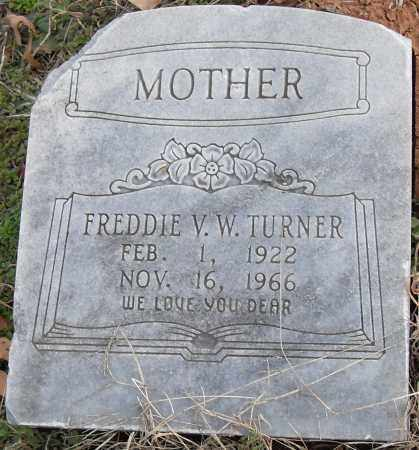 TURNER, FREDDIE V W - Pulaski County, Arkansas | FREDDIE V W TURNER - Arkansas Gravestone Photos