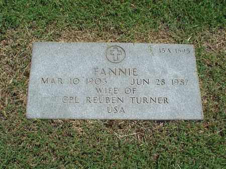 TURNER, FANNIE - Pulaski County, Arkansas | FANNIE TURNER - Arkansas Gravestone Photos