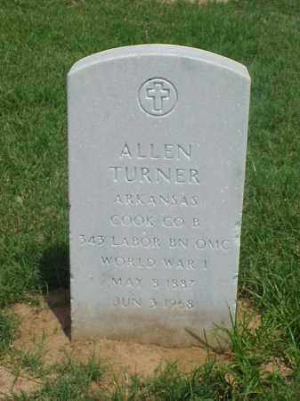 TURNER (VETERAN WWI), ALLEN - Pulaski County, Arkansas | ALLEN TURNER (VETERAN WWI) - Arkansas Gravestone Photos