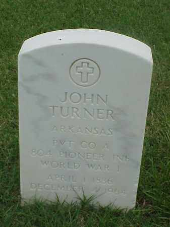 TURNER (VETERAN WWI), JOHN - Pulaski County, Arkansas | JOHN TURNER (VETERAN WWI) - Arkansas Gravestone Photos