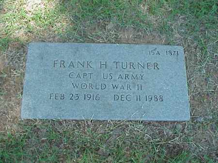 TURNER (VETERAN WWII), FRANK H - Pulaski County, Arkansas | FRANK H TURNER (VETERAN WWII) - Arkansas Gravestone Photos