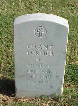 TURNER (VETERAN WWII), GRANT - Pulaski County, Arkansas | GRANT TURNER (VETERAN WWII) - Arkansas Gravestone Photos