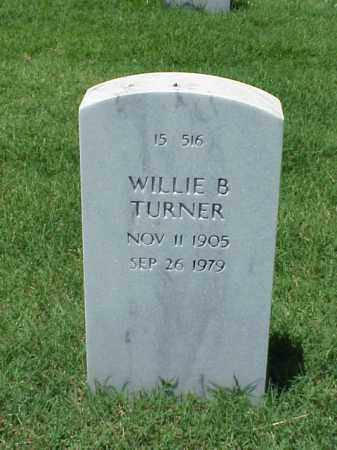 TURNER, WILLIE B - Pulaski County, Arkansas | WILLIE B TURNER - Arkansas Gravestone Photos