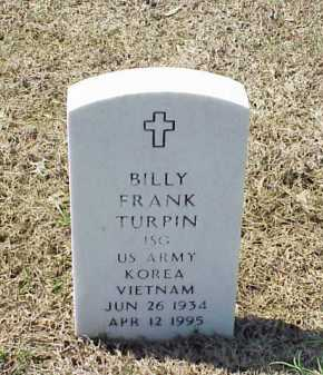 TURPIN (VETERAN 2 WARS), BILLY FRANK - Pulaski County, Arkansas | BILLY FRANK TURPIN (VETERAN 2 WARS) - Arkansas Gravestone Photos