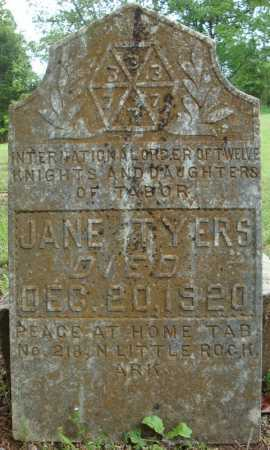 TYERS, JANE - Pulaski County, Arkansas | JANE TYERS - Arkansas Gravestone Photos