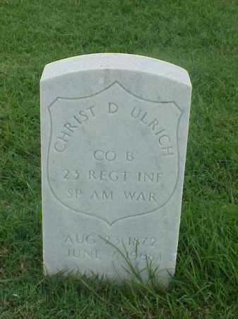 ULRICH (VETERAN SAW), CHRIST D - Pulaski County, Arkansas | CHRIST D ULRICH (VETERAN SAW) - Arkansas Gravestone Photos