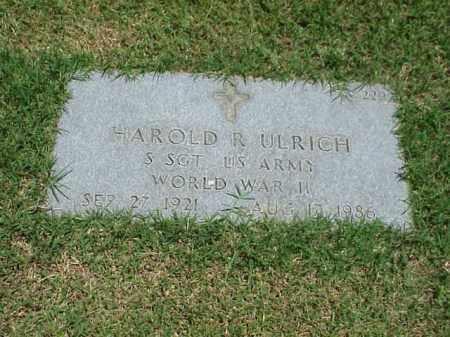 ULRICH (VETERAN WWII), HAROLD R - Pulaski County, Arkansas | HAROLD R ULRICH (VETERAN WWII) - Arkansas Gravestone Photos