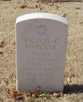 UMECKER (VETERAN WWI), VICTOR G - Pulaski County, Arkansas | VICTOR G UMECKER (VETERAN WWI) - Arkansas Gravestone Photos