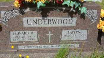 UNDERWOOD, LEONARD M. - Pulaski County, Arkansas | LEONARD M. UNDERWOOD - Arkansas Gravestone Photos