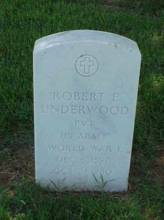 UNDERWOOD (VETERAN WWI), ROBERT E - Pulaski County, Arkansas | ROBERT E UNDERWOOD (VETERAN WWI) - Arkansas Gravestone Photos