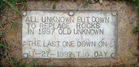 *UNKNOWN MARKERS STONE,  - Pulaski County, Arkansas |  *UNKNOWN MARKERS STONE - Arkansas Gravestone Photos