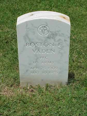VADEN (VETERAN WWII), BOSTON E - Pulaski County, Arkansas | BOSTON E VADEN (VETERAN WWII) - Arkansas Gravestone Photos