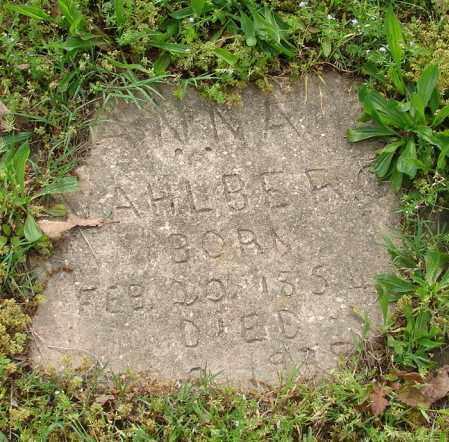 VAHLBERG, ANNA - Pulaski County, Arkansas | ANNA VAHLBERG - Arkansas Gravestone Photos