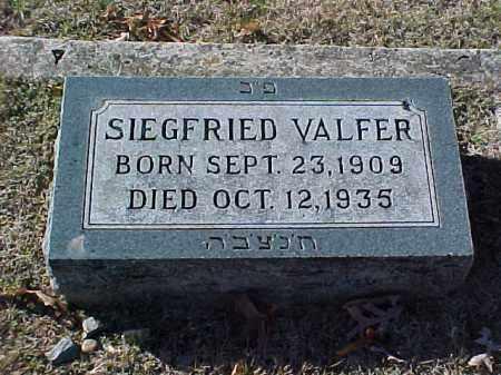 VALFER, SIEGFRIED - Pulaski County, Arkansas | SIEGFRIED VALFER - Arkansas Gravestone Photos
