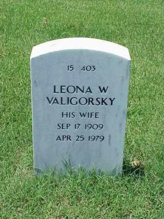 VALIGORSKY, LEONA W - Pulaski County, Arkansas | LEONA W VALIGORSKY - Arkansas Gravestone Photos