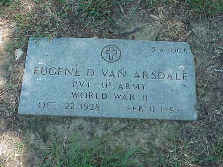 VAN ARSDALE (VETERAN WWII), EUGENE D - Pulaski County, Arkansas | EUGENE D VAN ARSDALE (VETERAN WWII) - Arkansas Gravestone Photos