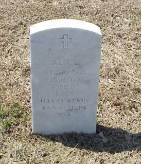 VAN BUSKIRK, ALICE - Pulaski County, Arkansas | ALICE VAN BUSKIRK - Arkansas Gravestone Photos