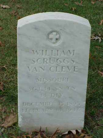 VAN CLEVE (VETERAN WWI), WILLIAM SCRUGGS - Pulaski County, Arkansas | WILLIAM SCRUGGS VAN CLEVE (VETERAN WWI) - Arkansas Gravestone Photos
