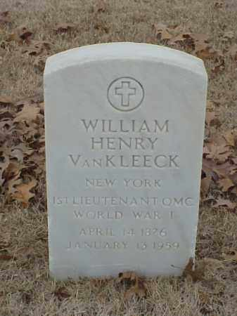 VAN KLEECK (VETERAN WWI), WILLIAM HENRY - Pulaski County, Arkansas | WILLIAM HENRY VAN KLEECK (VETERAN WWI) - Arkansas Gravestone Photos