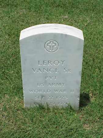VANCE, SR (VETERAN WWII), LEROY - Pulaski County, Arkansas | LEROY VANCE, SR (VETERAN WWII) - Arkansas Gravestone Photos