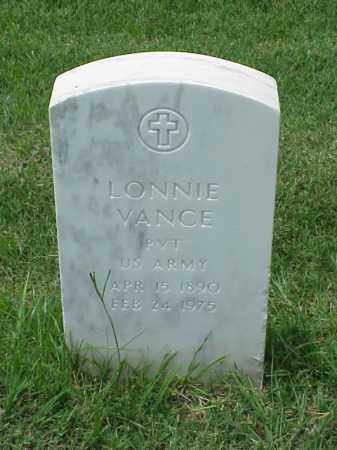 VANCE (VETERAN WWI), LONNIE - Pulaski County, Arkansas | LONNIE VANCE (VETERAN WWI) - Arkansas Gravestone Photos