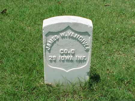 VANDIVER (VETERAN UNION), JAMES W - Pulaski County, Arkansas | JAMES W VANDIVER (VETERAN UNION) - Arkansas Gravestone Photos