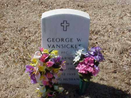 VANSICKLE  (VETERAN WWII), GEORGE W - Pulaski County, Arkansas | GEORGE W VANSICKLE  (VETERAN WWII) - Arkansas Gravestone Photos