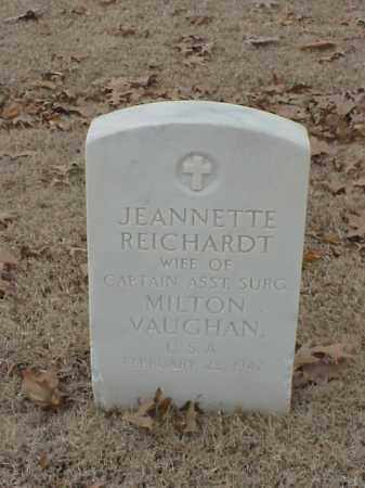 REICHARDT VAUGHAN, JEANNETTE - Pulaski County, Arkansas | JEANNETTE REICHARDT VAUGHAN - Arkansas Gravestone Photos