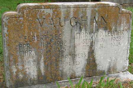 VAUGHAN, ELBERT LEE - Pulaski County, Arkansas | ELBERT LEE VAUGHAN - Arkansas Gravestone Photos