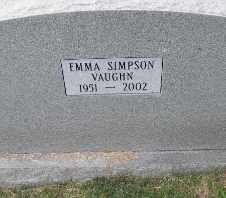 SIMPSON VAUGHN, EMMA - Pulaski County, Arkansas | EMMA SIMPSON VAUGHN - Arkansas Gravestone Photos