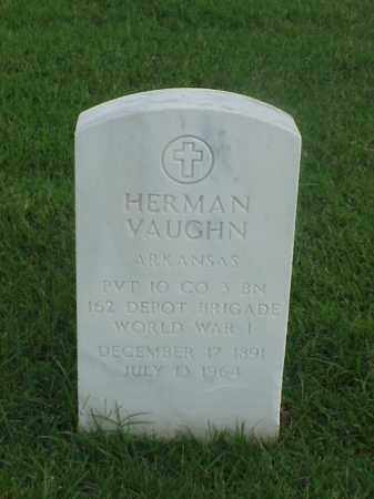 VAUGHN (VETERAN WWI), HERMAN - Pulaski County, Arkansas | HERMAN VAUGHN (VETERAN WWI) - Arkansas Gravestone Photos